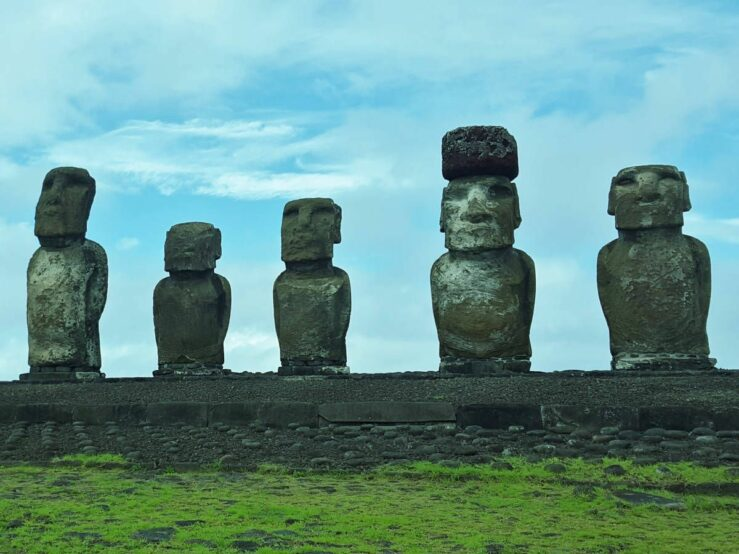 Ahu Tongariki amazing statues and Anakena Beach