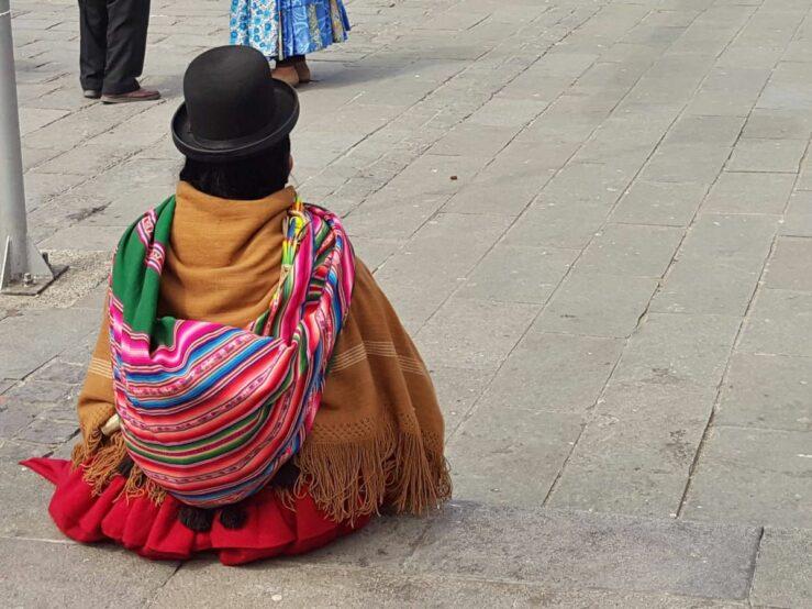 Cholita at La Paz altitude, Bolivia