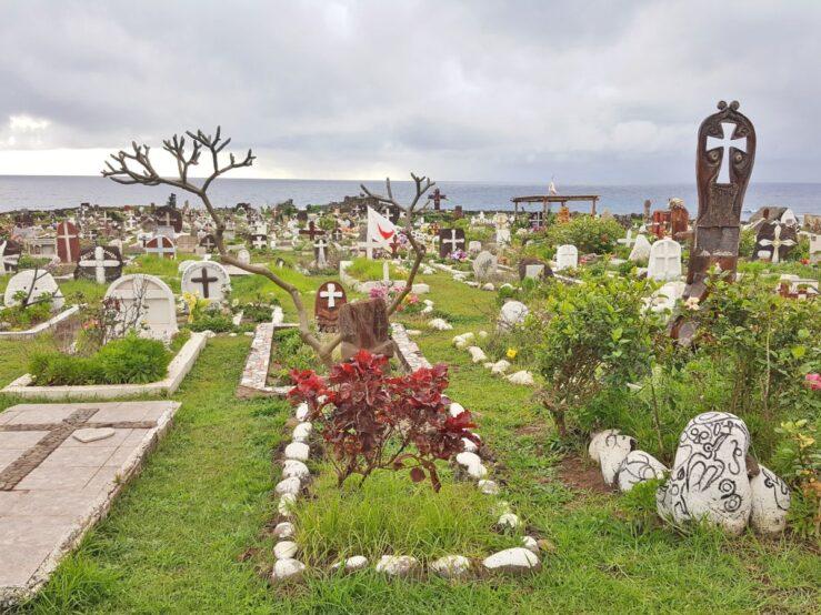 Hanga Roa Churchyard. Orongo.