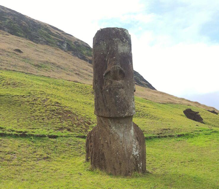 stone face Rano Raraku Easter Island moai statues