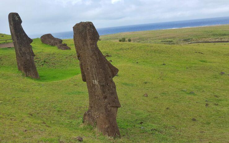 Easter Island moai statues Rano Raraku quarry