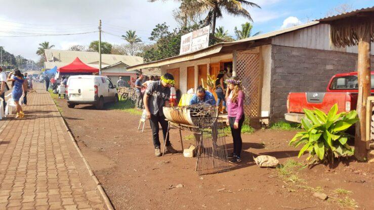 barbecue in Hanga Roa - Moai Statues, Rano Raraku, Rano Kau and Orongo