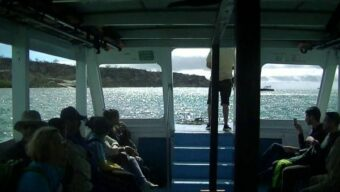 just flown into Baltra Island - on the boat