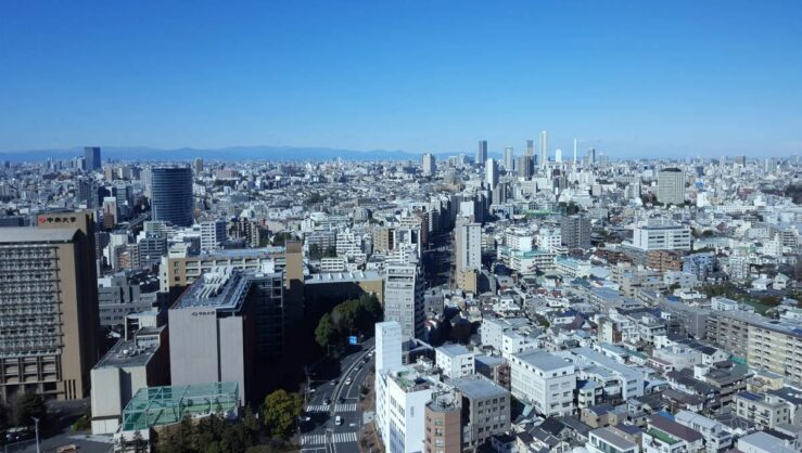 Tokyo view for skyscrapers