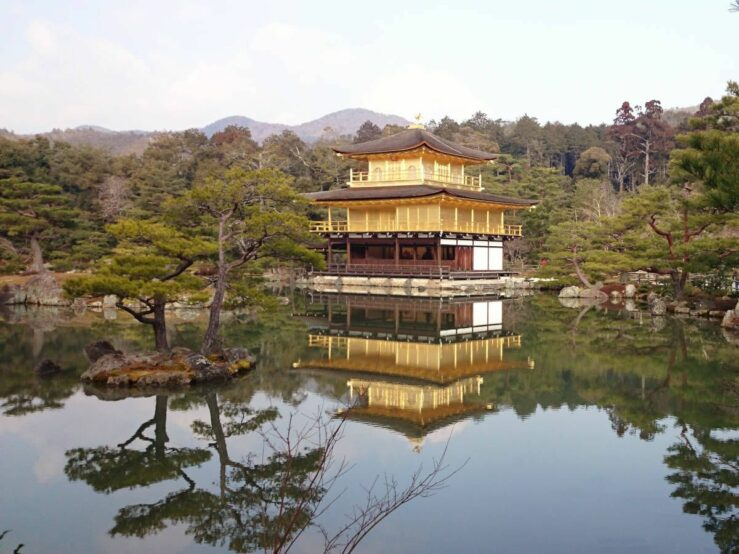 Kinkakuji Temple The Golden Pavilion Kyoto to Nara Todaiji Temple