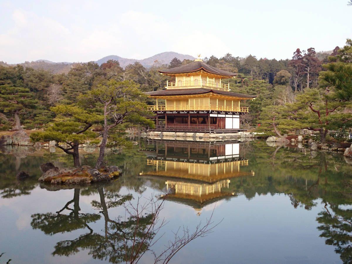 Kinkakuji Temple The Golden Pavilion Kyoto to Nara Todaiji Temple