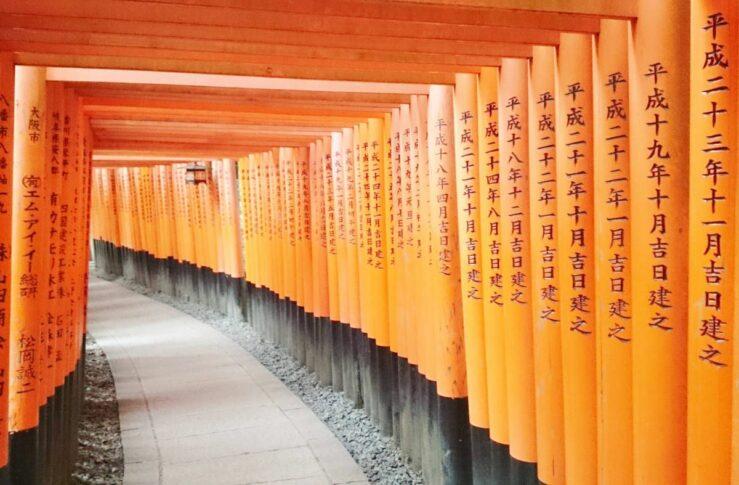 From Tokyo to Kyoto by train - Fushimi Inari Shrine.