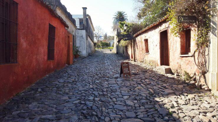 Street of Sighs Colonia del Sacramento in Uruguay
