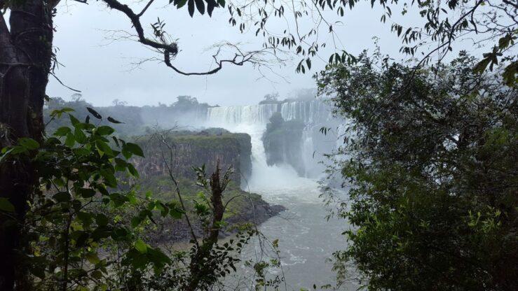 Viewpoint at Iguazú Falls, Argentina.