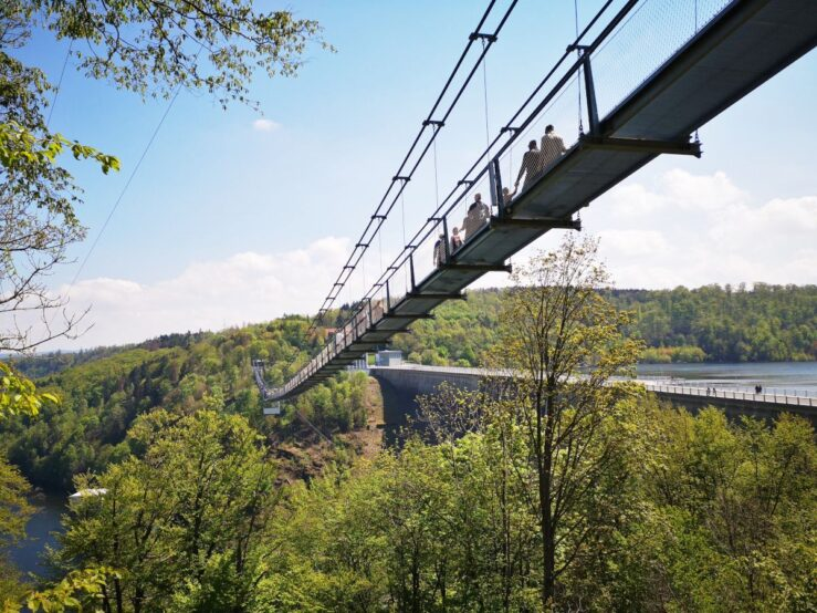 Titan RT suspension bridge between the Harz Mountains