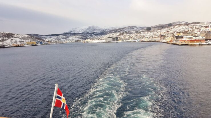 Leaving Harstad after Tromso in Northern Norway