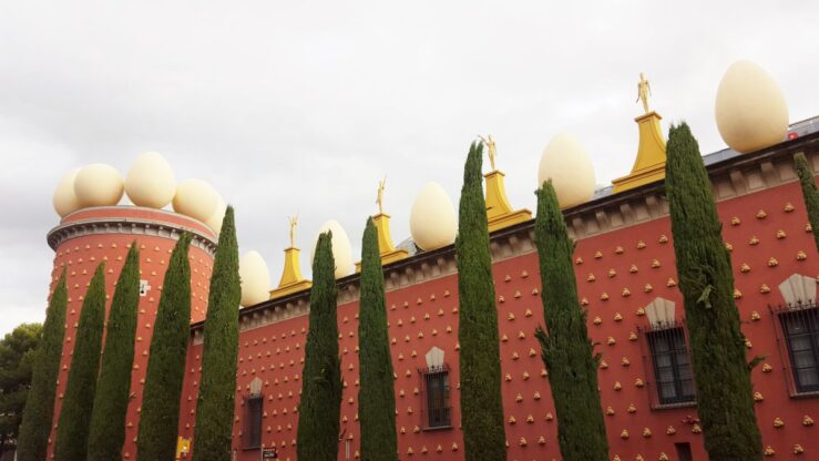 Dalí museum in Figueres medieval Catalan Spain