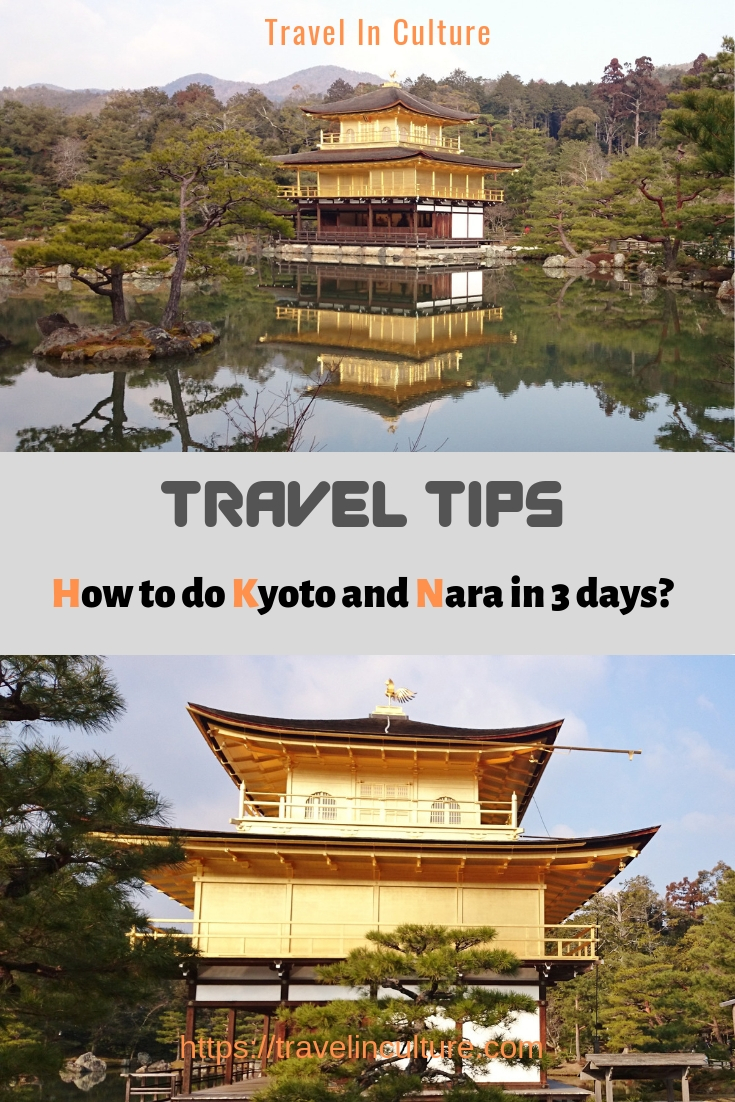 By train from Tokyo to Kyoto 3 days - Kinkakuji Temple