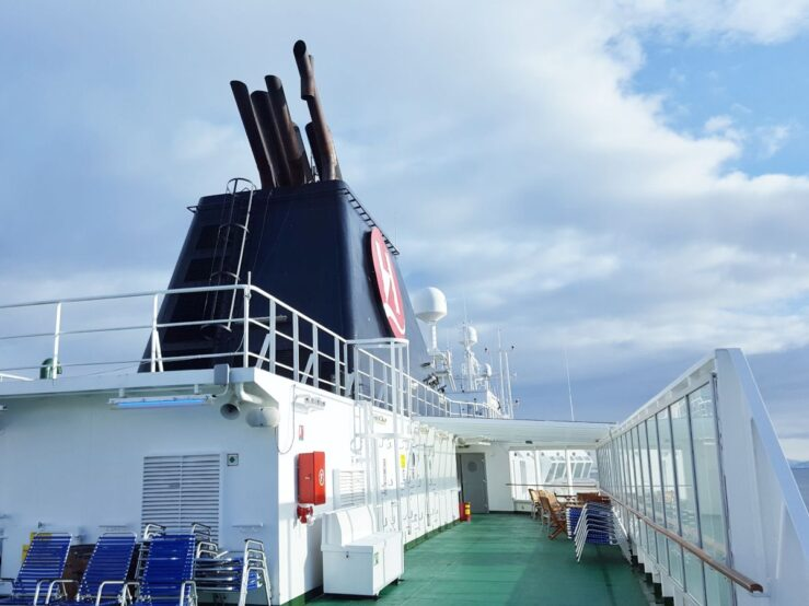 MS Nordnorge Crosses the Arctic Circle Norway