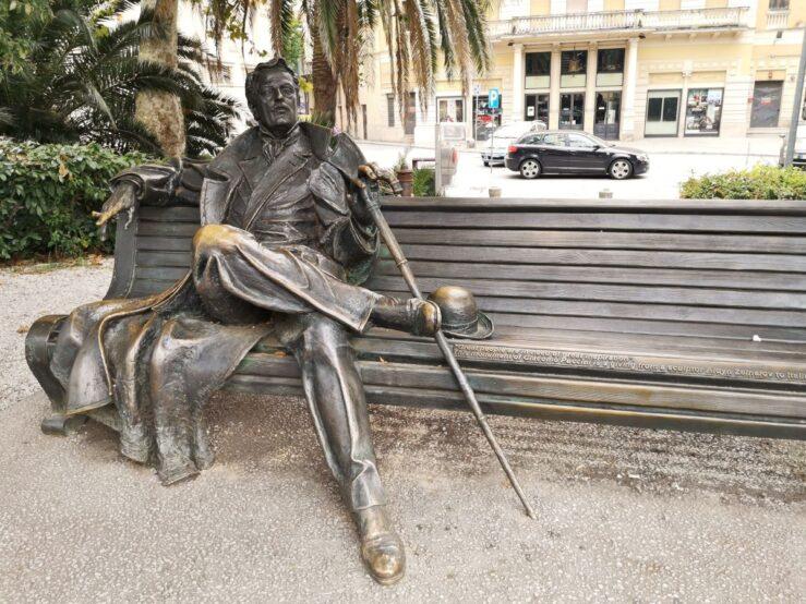 Montecatini Italy Puccini statue