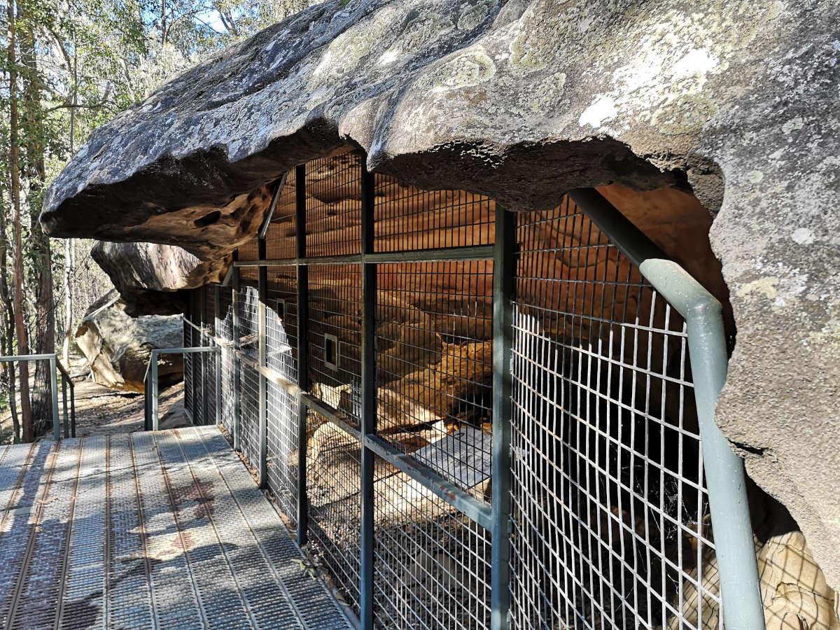 Aboriginal art in the Blue Mountains Australia