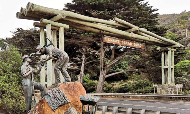 Great Ocean Road in Australia - memorial