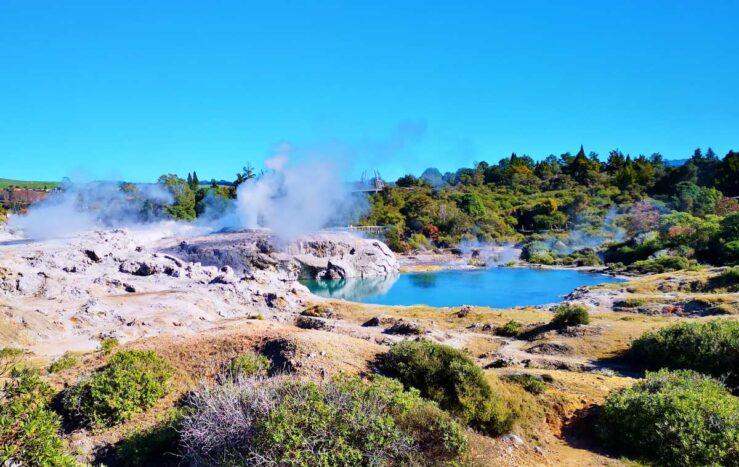 Maori village Rotorua thermal pool