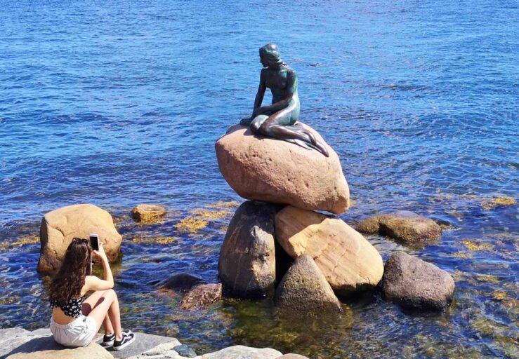 Little Mermaid Copenhagen Statue Hans Christian Andersen Story Denmark